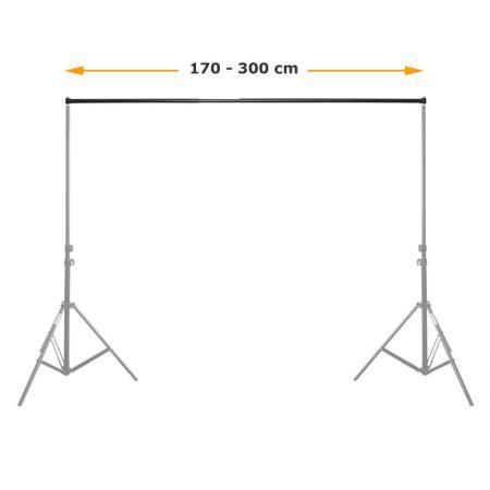 METTLE Teleskop-Querstange 170-300 cm für Hintergrundsystem