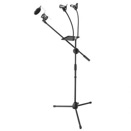 METTLE Stativ-Set mit 2-fach Smartphone- und Mikrofon-Halterung für Youtube, TikTok, Vlog