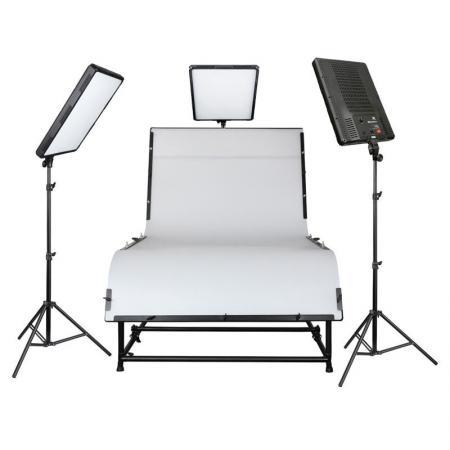 NANGUANG LED-Studioset DAKOTA 300 mit Aufnahmetisch 240x130 cm