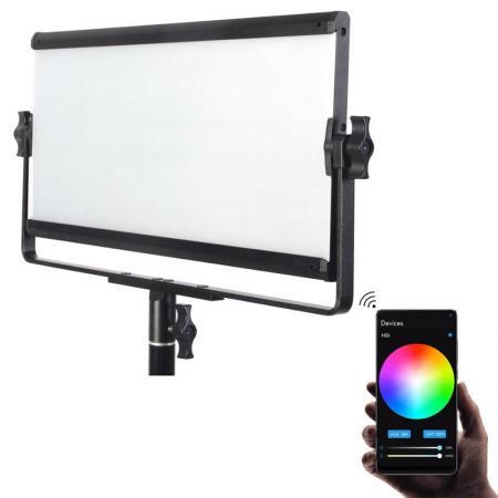 METTLE RGB Multi Color Studioleuchte SMART PANEL SPL 420C mit Softbox, App, Fotostudio Beleuchtung