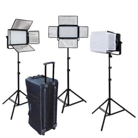 METTLE LED Studioset MATRIX VL-1200 mit Studio-Trolley