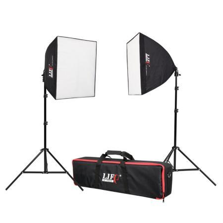 LIFE of PHOTO Studioset LED STARTER KIT 180 (2x60 W)