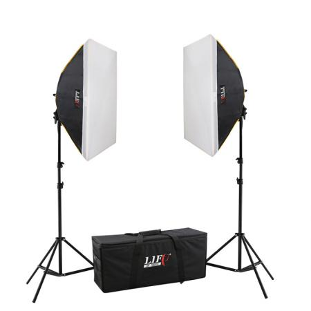 LIFE of PHOTO LED Studioset ZF-6080-2, 4x60 W