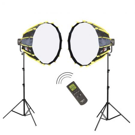 NANLITE LED-Studioset FS-2200 Wireless Fotostudio Beleuchtung Set