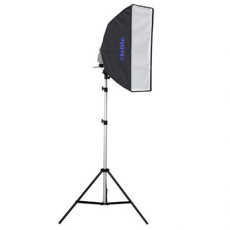 METTLE Striplight Schirm-Softbox 25x60cm für Systemblitz mit Stativ 200 cm