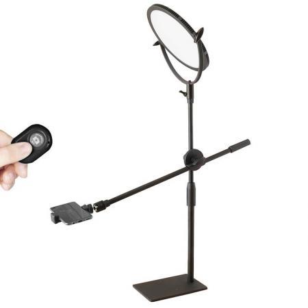 METTLE Smartphone-, Handy-Repro-Stativ SMARTBOOM L SET + LED-Beleuchtung