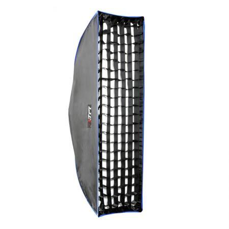 LIFE of PHOTO Grid für Striplight-Softbox 25x90 cm