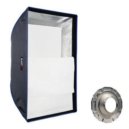 LIFE of PHOTO Easy Setup Square Softbox 60x90 cm für MULTIBLITZ P