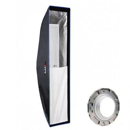 LIFE of PHOTO Deep Para-Softbox 90 cm für HENSEL Lichtformer Parabol-Form