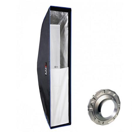 LIFE of PHOTO Easy Setup Striplight-Softbox 25x140 cm für BOWENS & METTLE