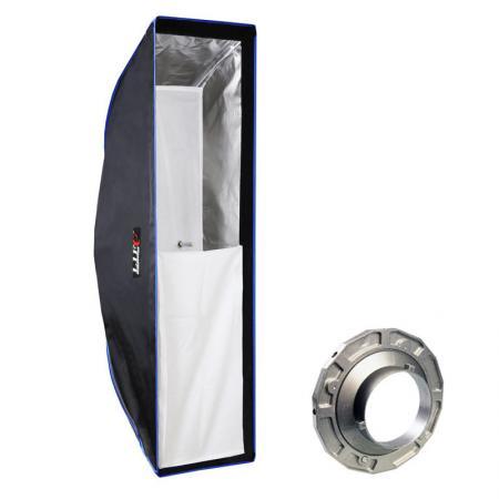 LIFE of PHOTO Easy Setup Striplight-Softbox 25x90 cm für BOWENS & METTLE