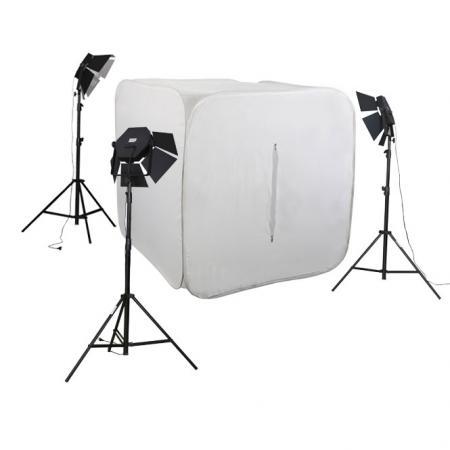 METTLE Studioset CUBE 700 mit Foto-Lichtzelt 150 cm, 21x30 W