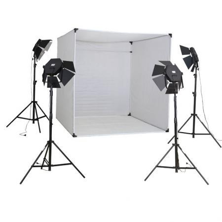 METTLE Studioset CUBE 900 mit XXL Foto-Lichtzelt, 28x85 W