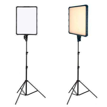 NANLITE Bi-COLOR LED-Studioset FLATBOARD 500 Fotostudio Beleuchtung Set mit COMPAC 68B