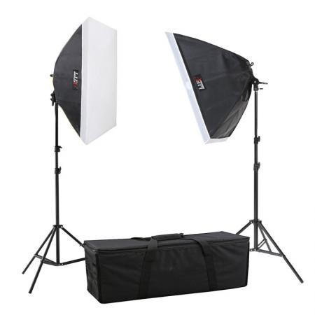 LIFE of PHOTO Studioset TS-6090-2, 8x150 W