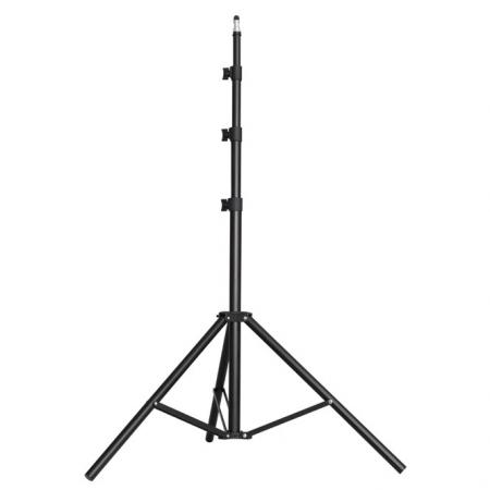 METTLE Lampenstativ, Studiostativ 240 cm (schwarz) bis 3,5 kg