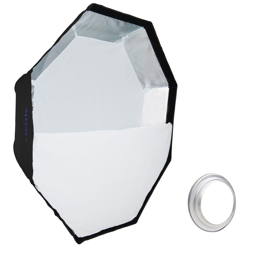 LIFE of PHOTO Easy Setup Striplight-Softbox 25x90 cm für HENSEL Studio-Blitz