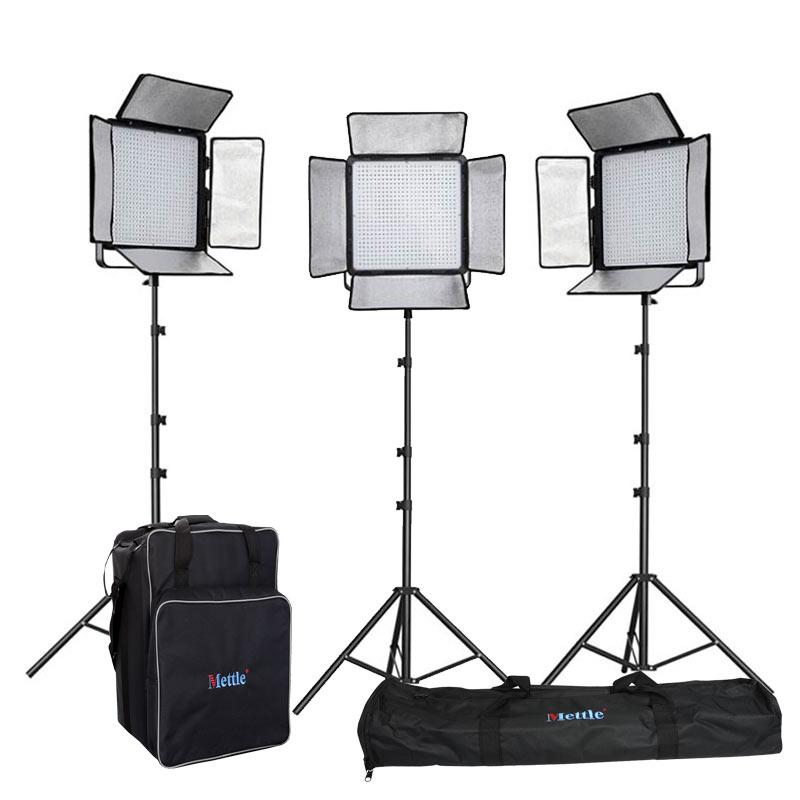ANGEBOT NANGUANG LED Studio Licht-Set DOMINO 1200SA Foto Video Flächen-Leuchte