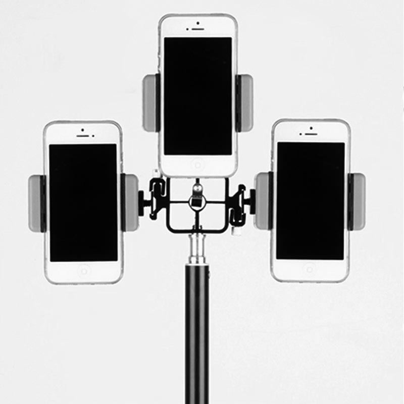 mettle set dreifach smartphone handy halter mit stativ. Black Bedroom Furniture Sets. Home Design Ideas