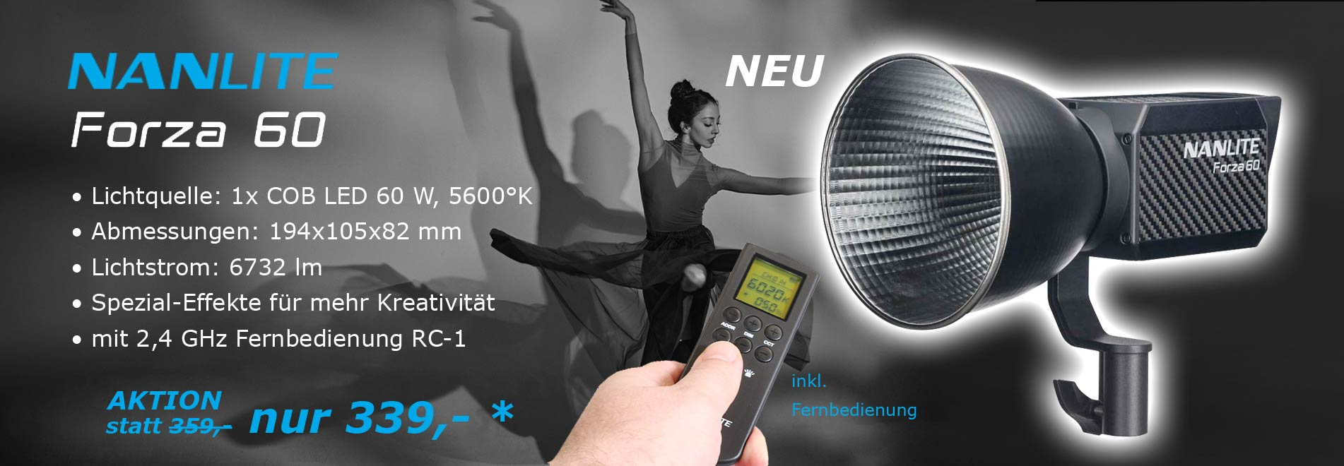 led_studioleuchte Forza 60 NANLITE