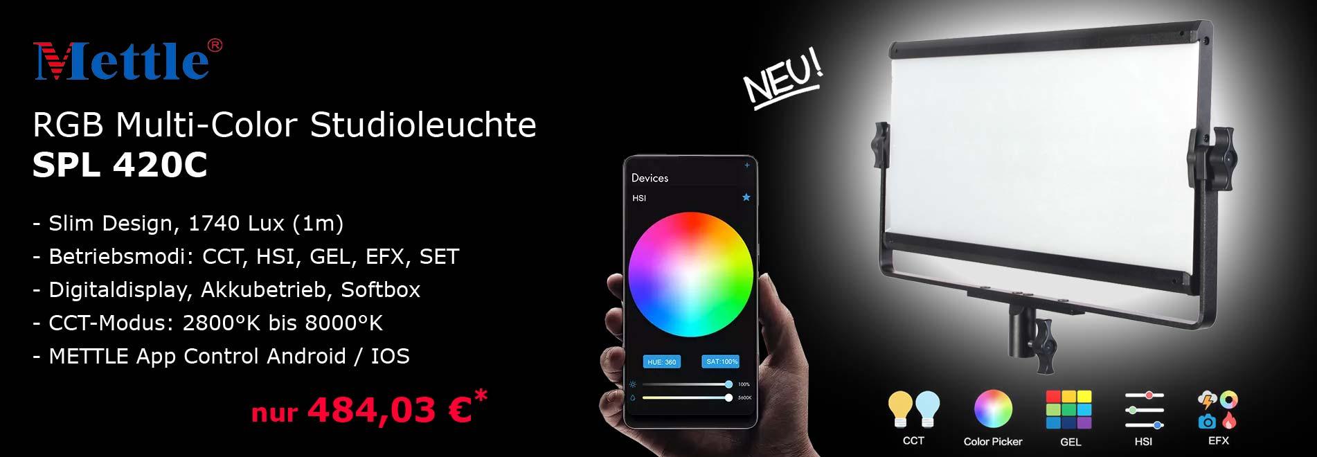NANLITE RGB STudioleuchte SPL 420