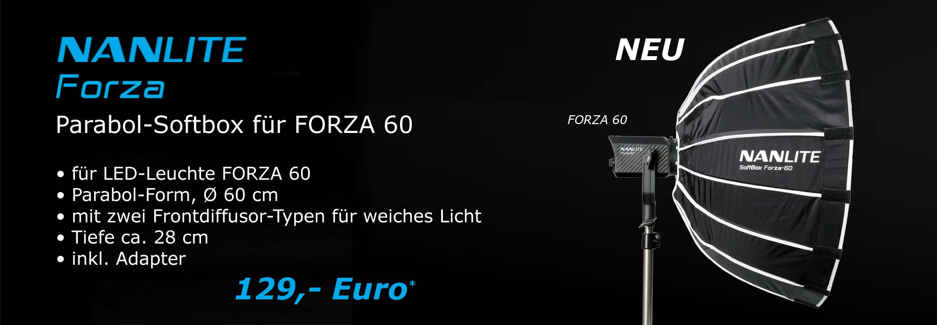 led_studioleuchte Softbox Forza 60