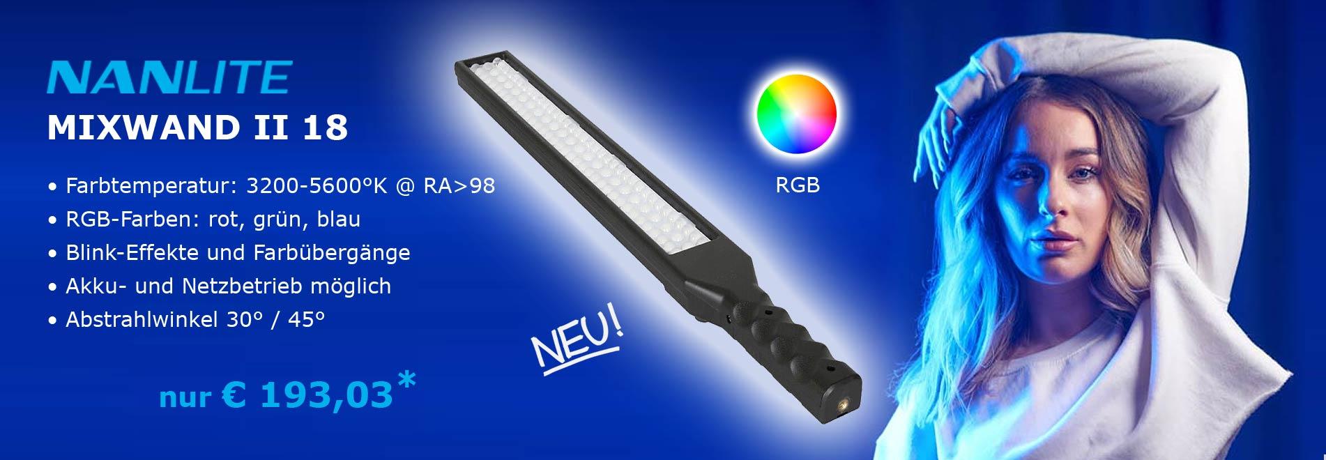 RGB Studioleuchte NANLITE MIXWAND II 18