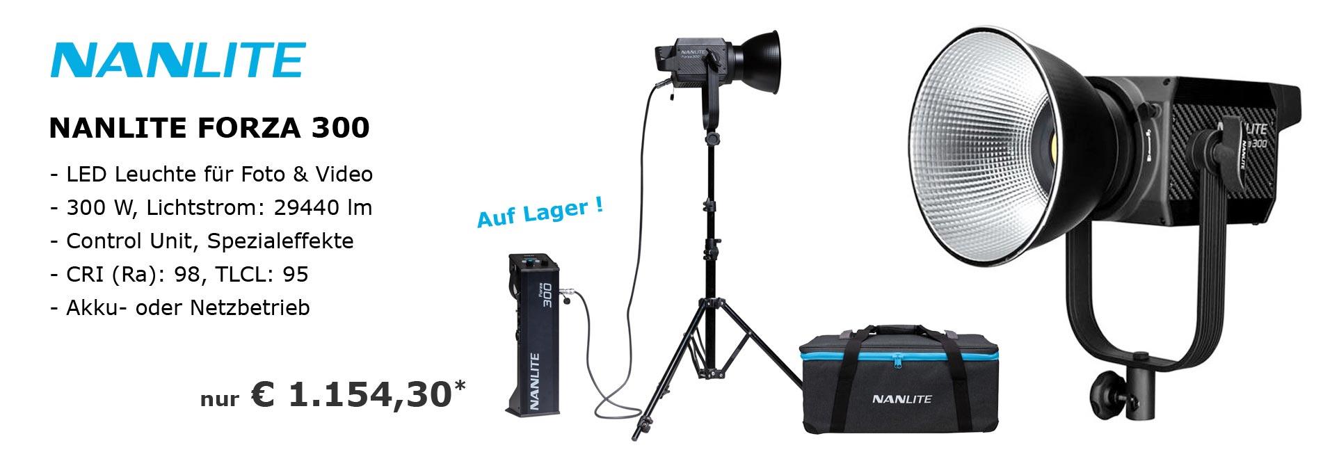 NANLITE FORZA 300 LED Studio-Leuchte für Foto und Video