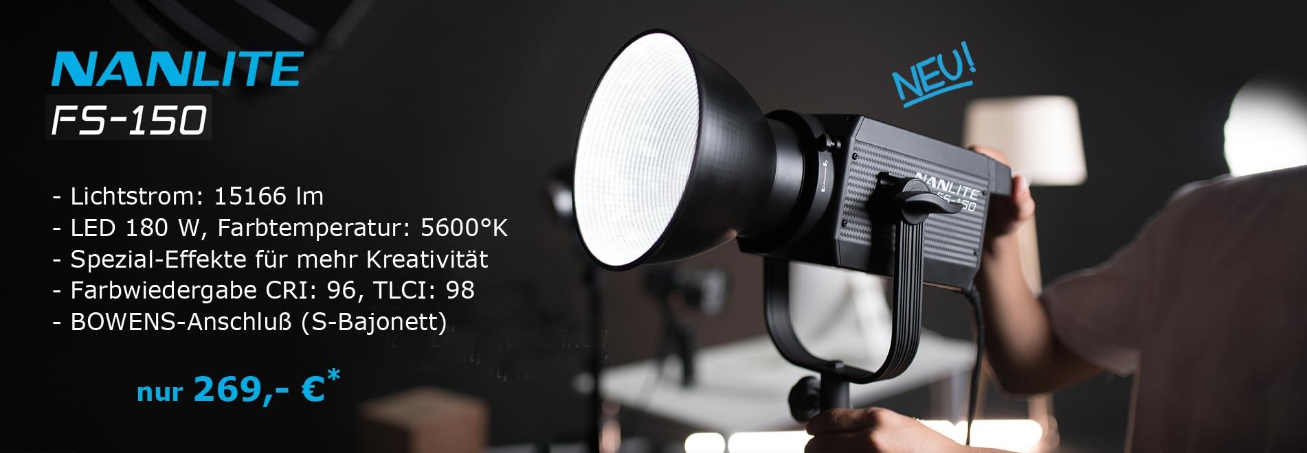 LED Studioleuchte NANLITE FS-150