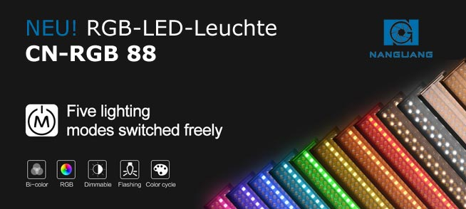 RGB LED Studioleuchte NANGUANG RGB 88