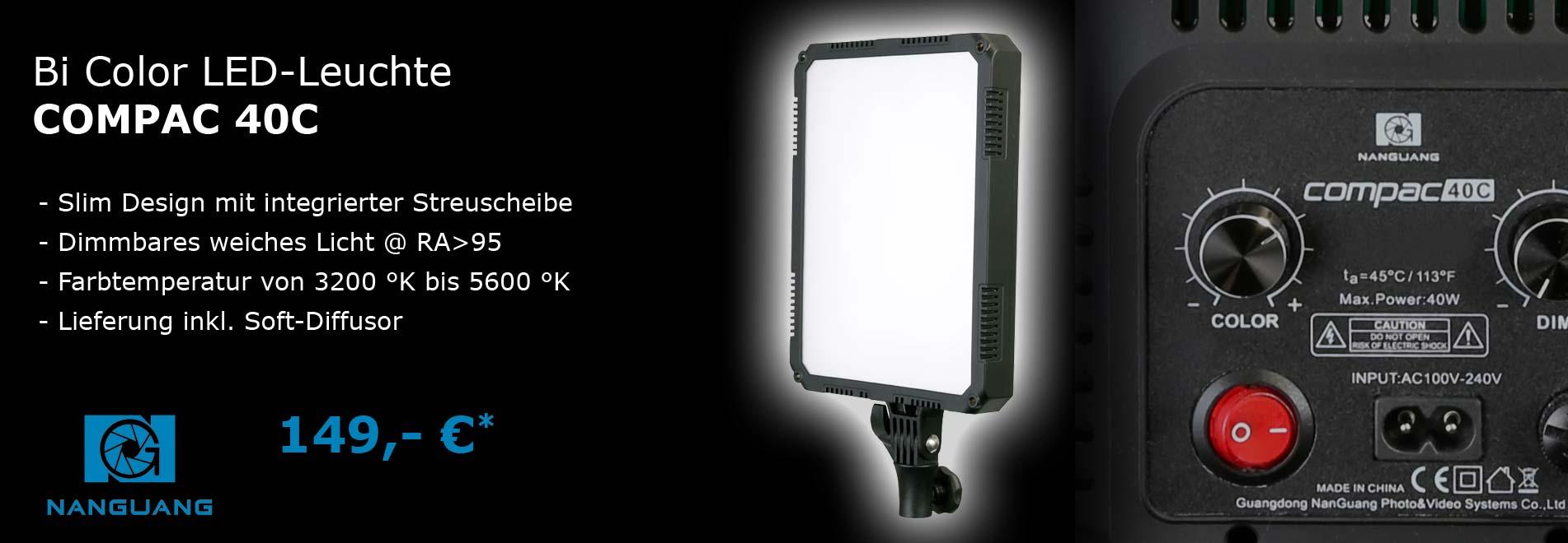 LED-Studioleuchte compac