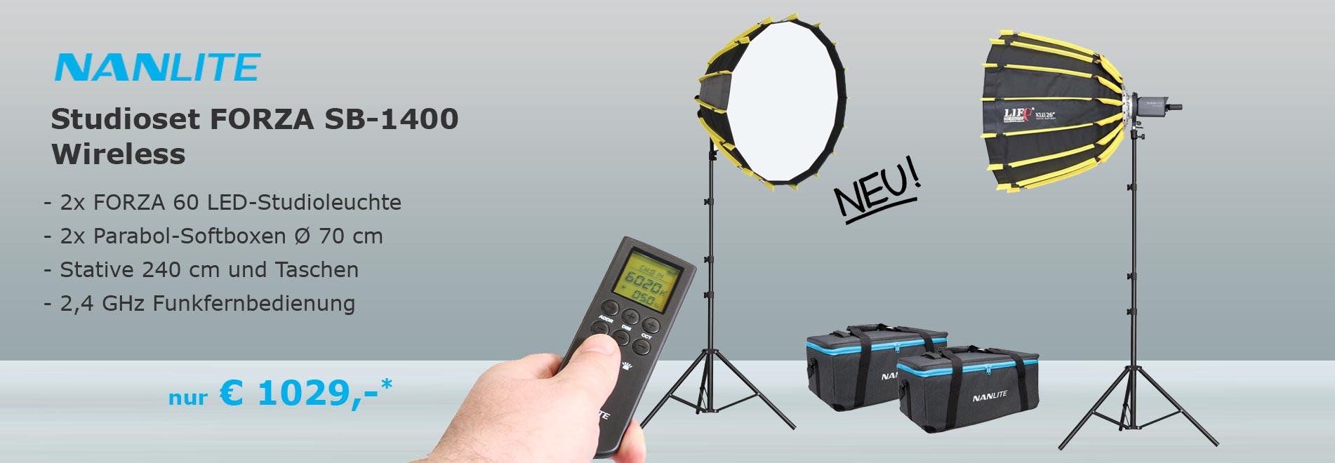 NANLITE Studioset SB 1400 LED Studioleuchte
