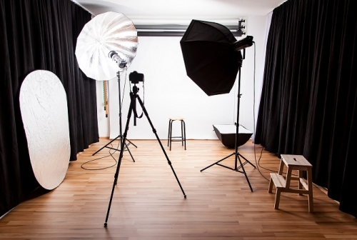 Studio mit Softbox