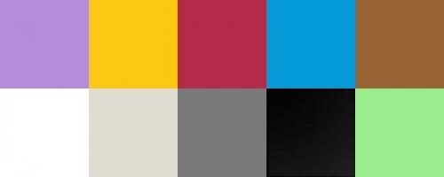 Beispiel für Farben Hintergrundkarton
