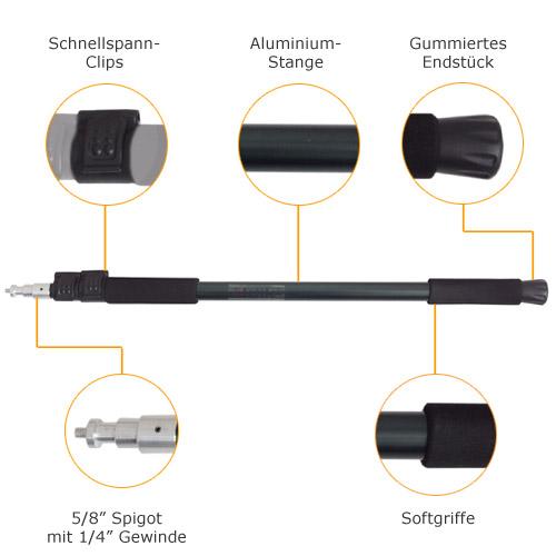 mettle teleskop studiostange haltestange l nge 63 163 cm best of technic. Black Bedroom Furniture Sets. Home Design Ideas